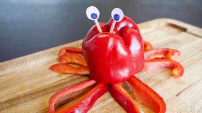 Grøntsagshit: Lav en krabbe af en peberfrugt