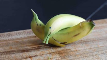 Frugthit: Lav en delfin af en banan