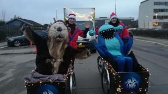 Den Blå Planet til juleoptog på Amagerbrogade