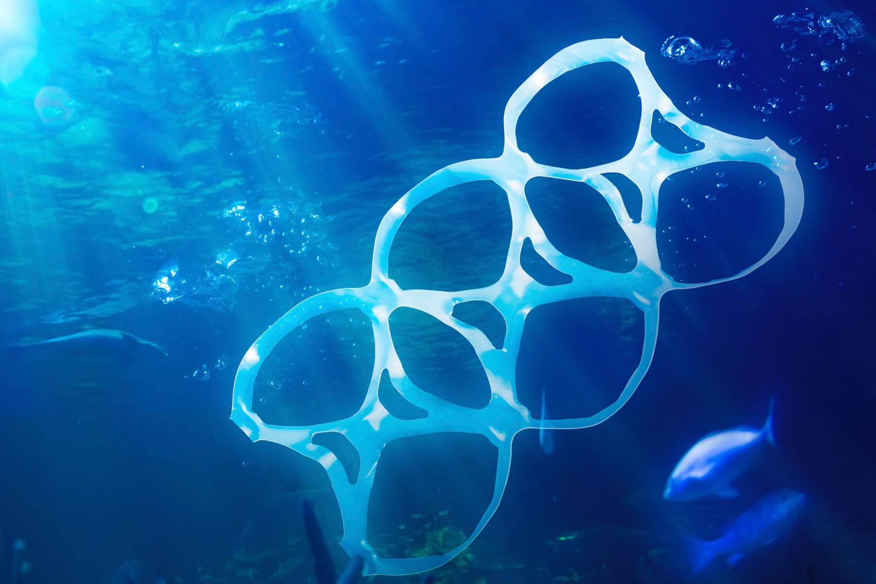 plastic garbage contaminating the earth
